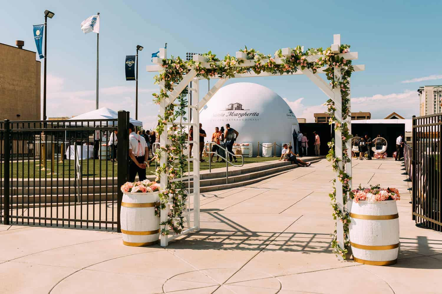 outdoor event space at Infinity Park Event Center